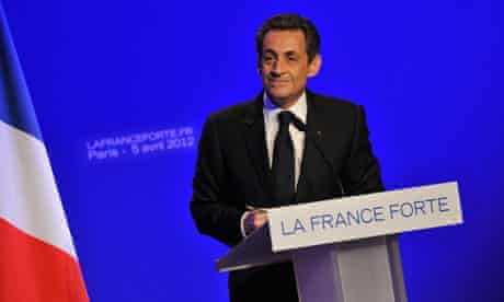 Nicolas Sarkozy on the campaign trail
