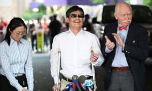 Blind Chinese Activist Chen Guangcheng Arrives In United States
