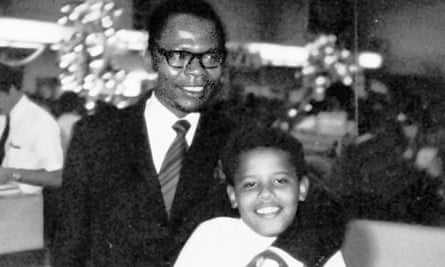 Obama and father