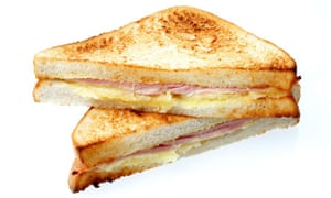 Toasted Cheese and Ham Sandwich
