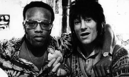 Bobby Womack with Ronnie Wood.