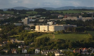 National Library of Wales in Aberystwyth seen from across the Rheidol valley