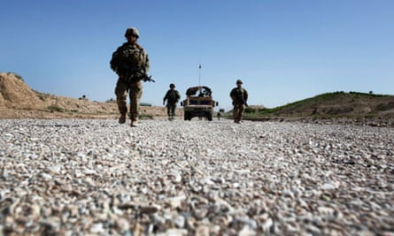 American soldiers patrol Afghanistan's Zabul province