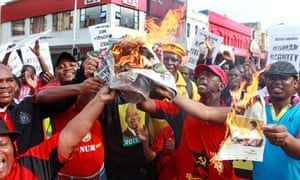 City Press protesters jacob zuma