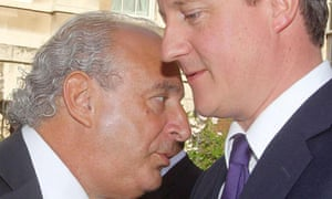 Sir Philip Green and David Cameron, 2010