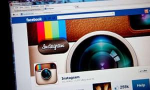 Instagram fan page on Facebook