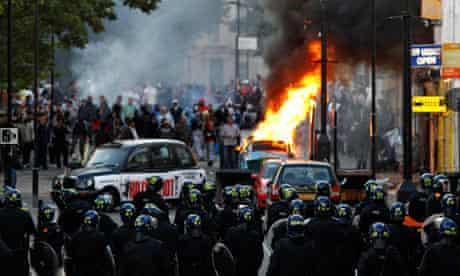 Police riots hackney london