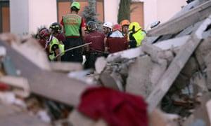 Italy earthquake survivor