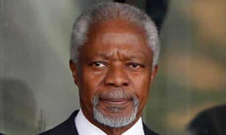 UN Arab League envoy Kofi Annan