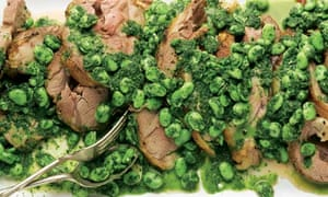 Yotam Ottolenghi's lamb shoulder with broad beans and herbs