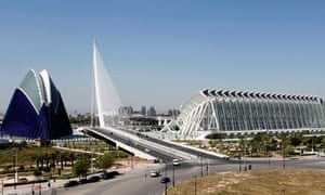 The City of the Arts and Sciences by architect Santiago Calatrava, is seen in Valencia