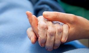 nursing hand elderly