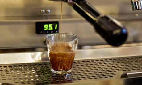 Watch that temperation … a coffee machine at Prufrock's