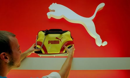 Puma handbag in shop window