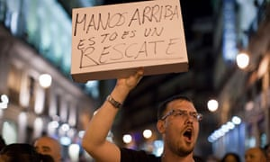 Spain's bailout protest in Madrid