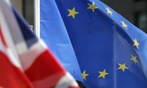Britain EU flags