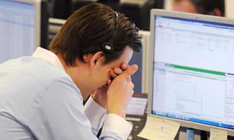 A stock market trader