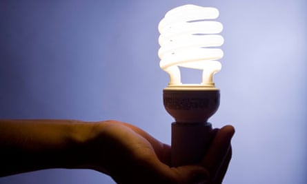 Energy efficient Compact fluorescent lightbulb