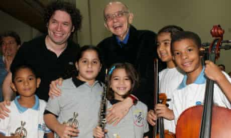 Jose Antonio Abreu and conductor Gustavo Dudamel