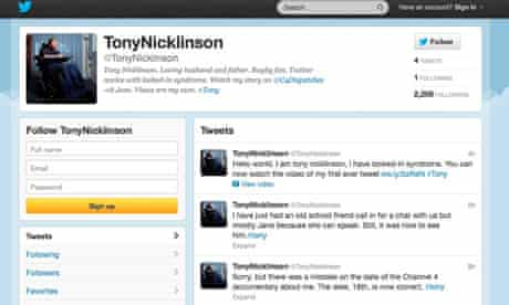 Tony Nicklinson tweet