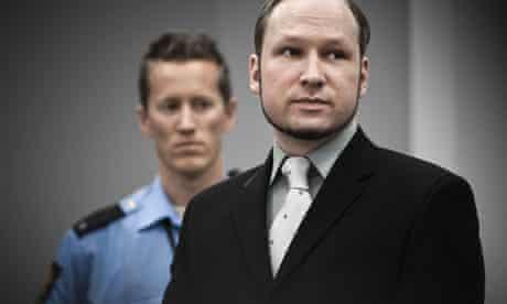 Anders Behring Breivik trial, Oslo Court House, Norway - 01 Jun 2012