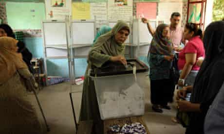 Cairo egypt voter