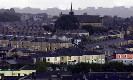 Accrington in Lancashire, where 30% of households are at risk of slipping into 'official poverty'.