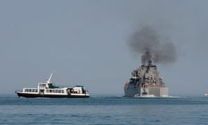 Russian navy vessels on a mission to the Syrian port of Tartus.
