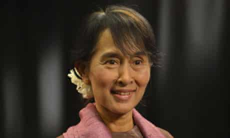 Burmese Opposition Leader Aung San Suu Kyi visits the UK
