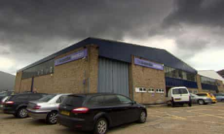 A warehouse operated by Co-operative Funeralcare