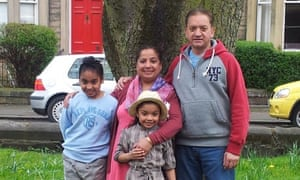 Trishna Singh, her husband and grandchildren
