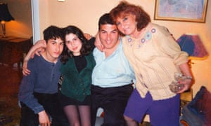 Amy WInehouse with her family, 1990s