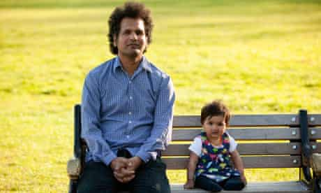 Safraz Manzoor with daughter Laila.