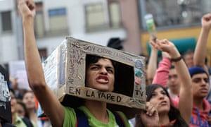 Mexican anti-PRI protester