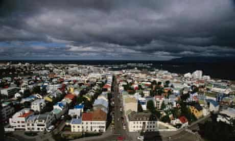 Reykjavik Under Dark Clouds