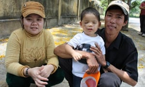 Viet in Vietnam with his father and his mother, Nho