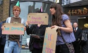 A4e protest