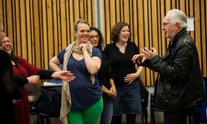 Director Peter Mumford rehearses Opera North in Die Walkure, the second opera in Wagner's Ring Cycle
