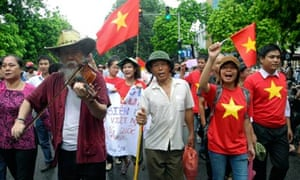 Vietnam proetst march in Hanoi