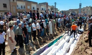 Houla, mass burial