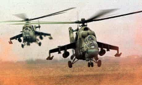 helicopter gunships
