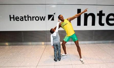 Usain Bolt wax figure unveiled
