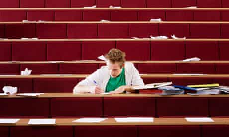 student in lecture theatre