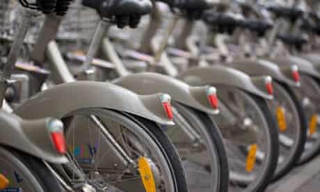 Paris Vélib' cycles