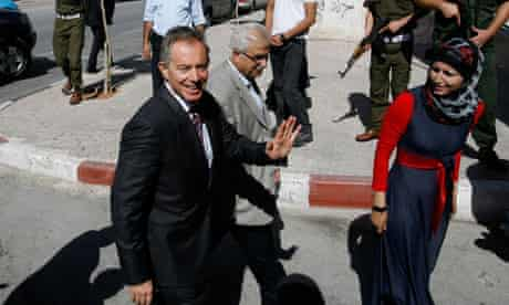 Middle East envoy Tony Blair during one of his many visits to the region