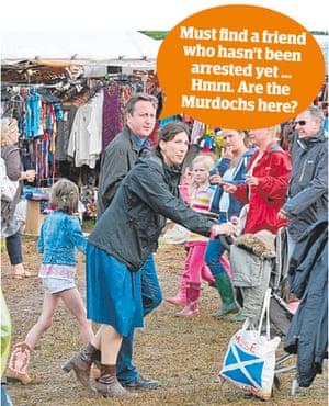 The Camerons at Cornbury, July 2012