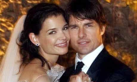 Tom Cruise and his bride Katie Holmes on their wedding day in 2006