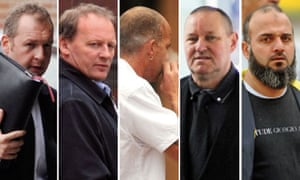 Five men found guilty of child sex abuse