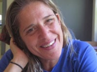 Vered Ofir, 45, whose family became members of Kibbutz Afikim last year.