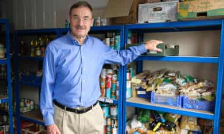 Tom O'Kane at food bank  Foodshare